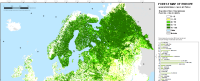 EFI forest map of Europe