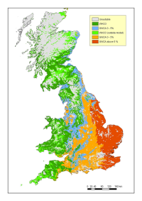 Douglas fir provenance zone map of Britain